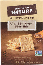 BACK TO NATURE: Gluten Free Rice Thins Multi-seed, 4 oz