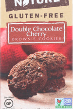 BACK TO NATURE: Double Chocolate Cherry Brownie Cookies, 8 oz