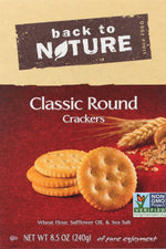 BACK TO NATURE: Classic Round Crackers, 8.5 oz