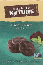 BACK TO NATURE: Cookies Fudge Mint, 6.4 oz