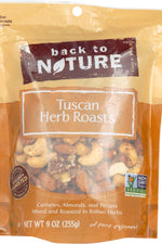 BACK TO NATURE: Tuscan Herb Roasts Nuts, 9 oz