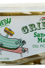 GRILLO'S PICKLES: Sandwich Makers Dill Pickle Slices, 16 oz