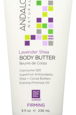 ANDALOU NATURALS: Firming Body Butter Lavender Shea, 8 Oz
