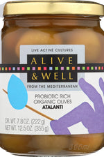 ALIVE & WELL: Organic Atalanti Olives, 12.5 oz
