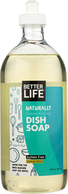 BETTER LIFE: Naturally Grease-Kicking Dish Soap Lemon Mint, 22 oz