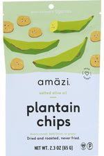 AMAZI: Salted Olive Oil Plantain Chips, 2.30 oz