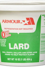 ARMOUR: Lard in Tub, 16 oz