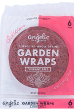 ANGELIC BAKEHOUSE: 7 Sprouted Whole Grains Garden Wraps Vibrant Beet, 9 oz