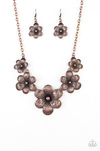 Secret Garden Copper Paparazzi Necklace - JewelTonez Jewelry