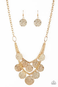 Works Every Chime Gold Paparazzi Necklace - JewelTonez Jewelry