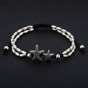 Double Beaded Vintage Starfish Anklet Ankle Bracelet EJIJI Boutique