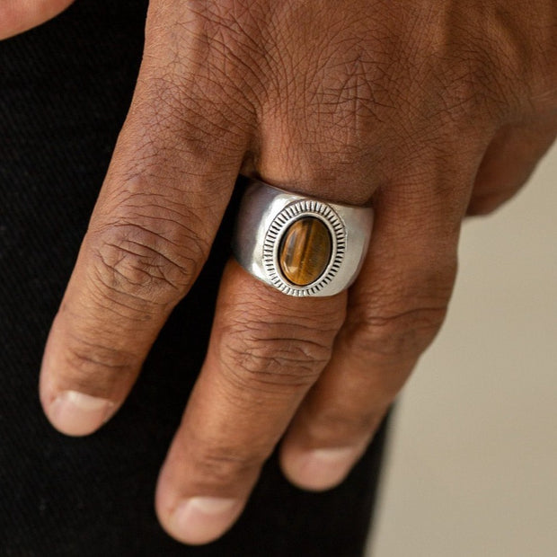 The Prospector Men's Brown Paparazzi Ring EJIJI Boutique