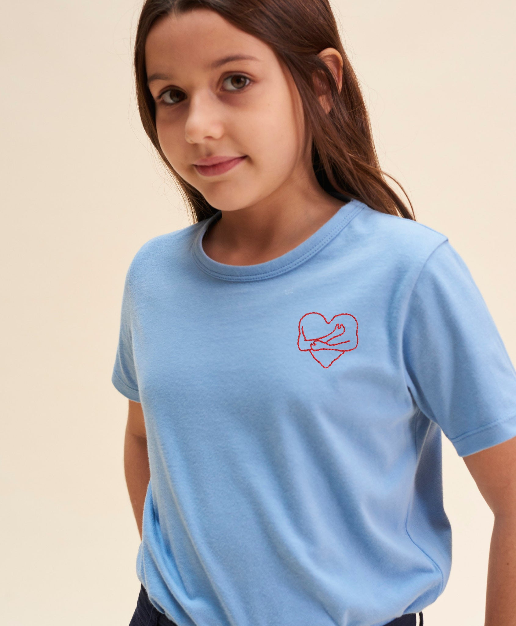 T-shirt câlin bleu kids