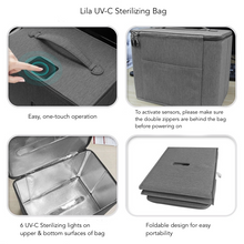 Load image into Gallery viewer, Lila - UV-C Toiletry & Baby Accessory Bag