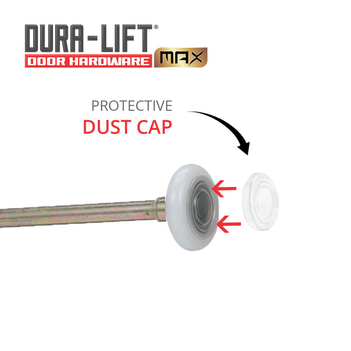 DURA-LIFT Ultra-Life Max 2 in. Nylon Garage Door Roller w/ Sealed 6200ZZ Bearing & 7-in. Stem (10-Pack)