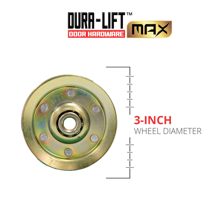"DURA-LIFT Heavy-Duty 3"" Garage Door Pulley with Sheave (2-Pack)"