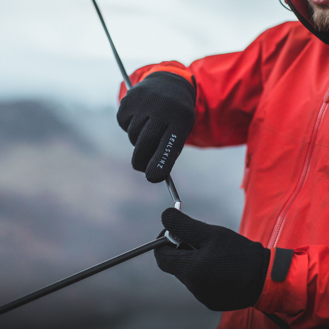 Sealskinz gloves are made for camping