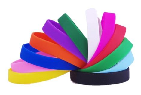 Plain Silicone Wristbands - Promotions Only Wristbands