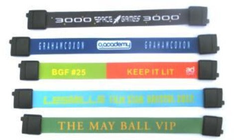 3 Day Express Fabric Wristbands with Plastic Breakaway - Promotions Only Wristbands