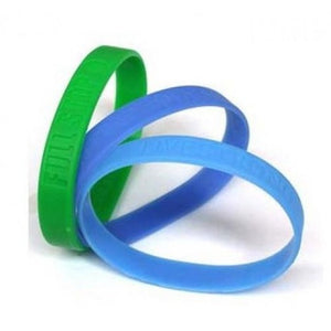 Debossed Silicone Wristband - Promotions Only Wristbands
