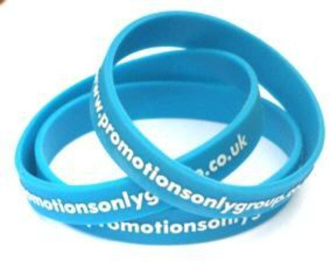 Embossed Colour Filled Silicone Wristband - Promotions Only Wristbands