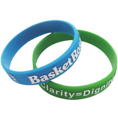 Embossed Silicone Wristbands Colour Filled - Promotions Only Wristbands