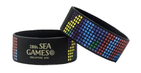 Extra Wide Debossed Colour Filled Silicone Wristbands - Promotions Only Wristbands