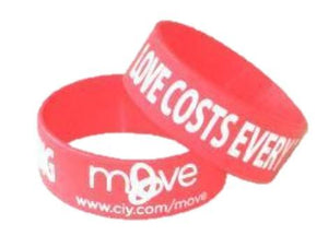 Extra Wide Printed Silicone Wristbands - Promotions Only Wristbands