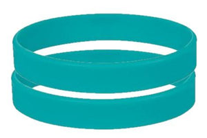 Green Silicone Wristbands - Child Size - From Stock - Promotions Only Wristbands