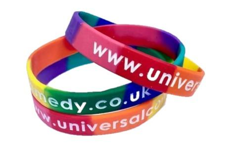 Sectional Debossed Colour Filled Silicone Wristbands - Promotions Only Wristbands