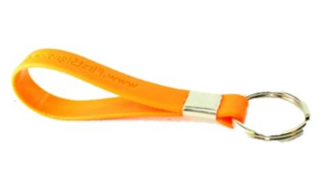 Silicone Debossed Keyring - Promotions Only Wristbands