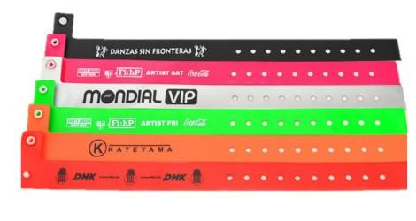 Vinyl Slim Wristbands - Promotions Only Wristbands