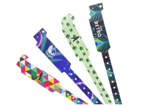 Vinyl Wide Face Wristbands - Promotions Only Wristbands