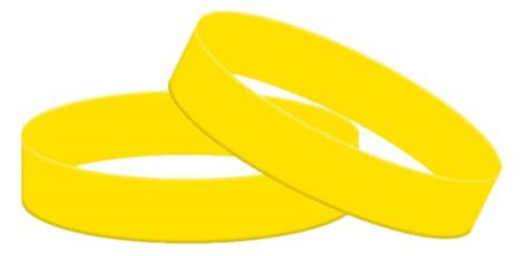 Yellow Silicone Wristbands - Adult Size - From Stock - Promotions Only Wristbands