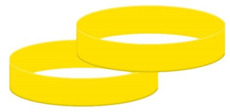 Yellow Silicone Wristbands - Child Size - From Stock - Promotions Only Wristbands