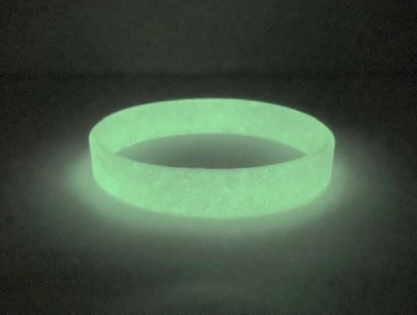 Glow in the Dark Debossed or Embossed Silicone Wristbands - Promotions Only Wristbands