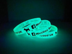 Glow in the Dark Debossed Colour Filled Silicone Wristbands - Promotions Only Wristbands