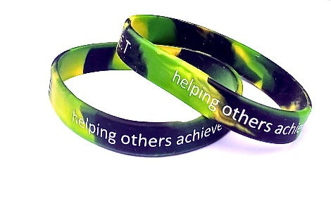 Multi Coloured Printed Silicone Wristbands - Promotions Only Wristbands