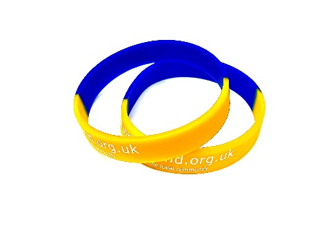 Sectional Printed Silicone Wristband - Promotions Only Wristbands