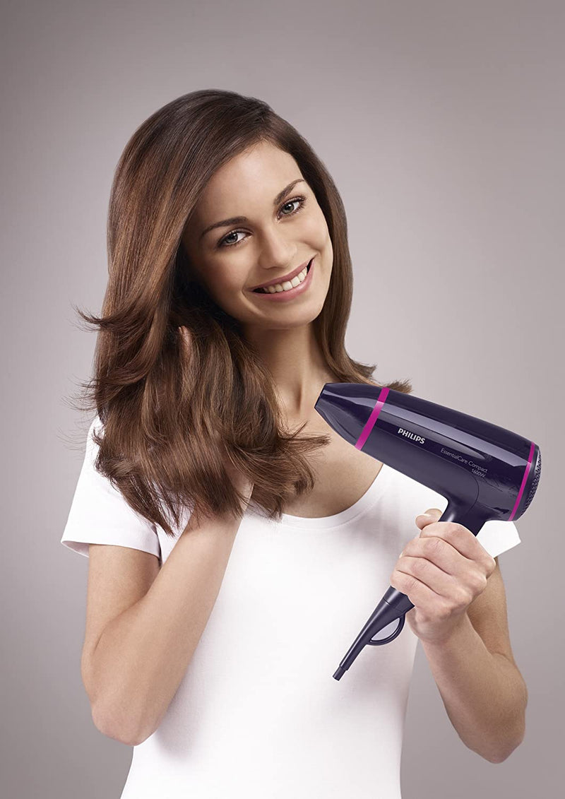 Philips BHD002/00 Travel Hair Dryer Black, Pink
