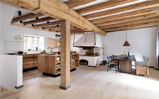 The home kitchen of Nadine Levy and Rene Redzepi in Copenhagen