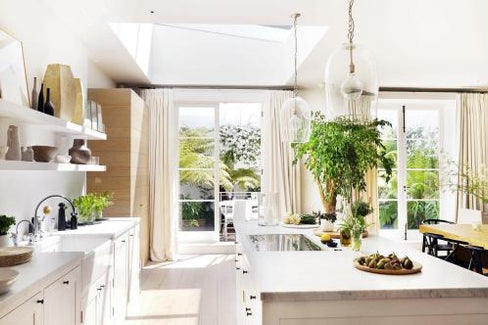 Home kitchen of Chrissie Rucker, Founder of The White Company