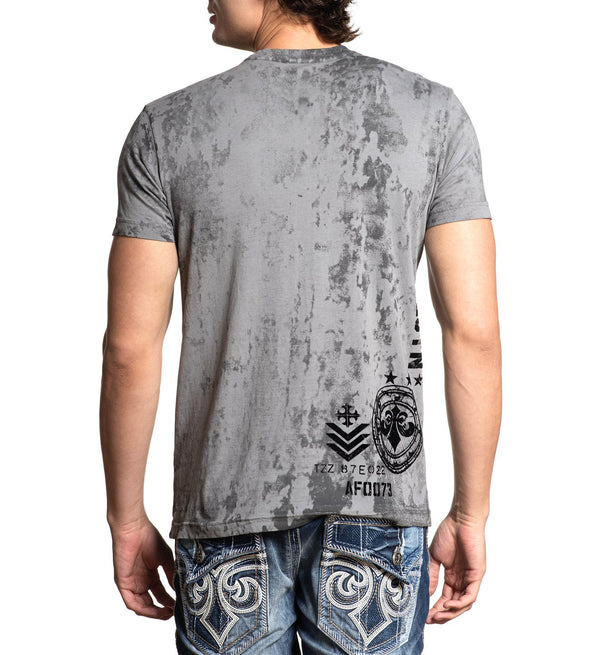 Affliction Riveted Eagle Short Sleeve Tee - Silver