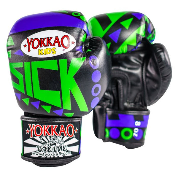 Yokkao Sick Boxing Gloves Kids-BLUE/GREEN