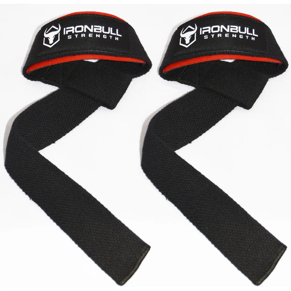 IronBull Strength Lifting Straps Black-Red