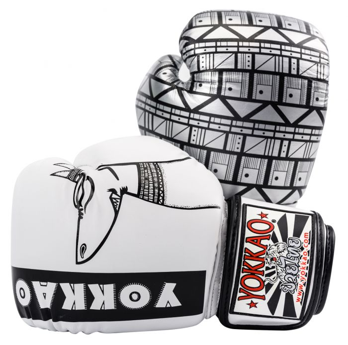 Yokkao Anubis Boxing Gloves - White