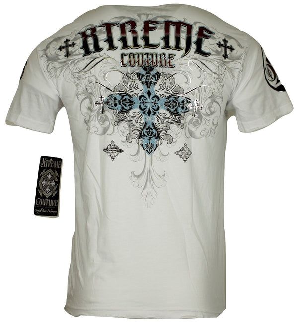 Xtreme Couture Classic Crest S/S Tee White