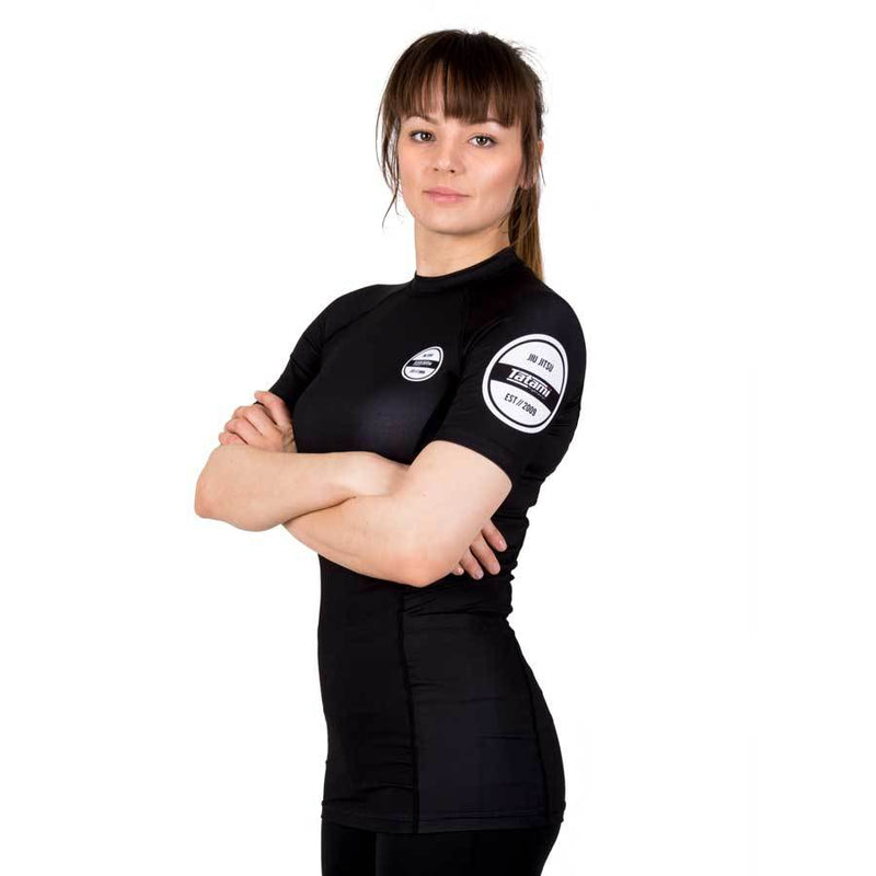 Tatami Fightwear Ladies Classic Short Sleeve Rash Guard Black