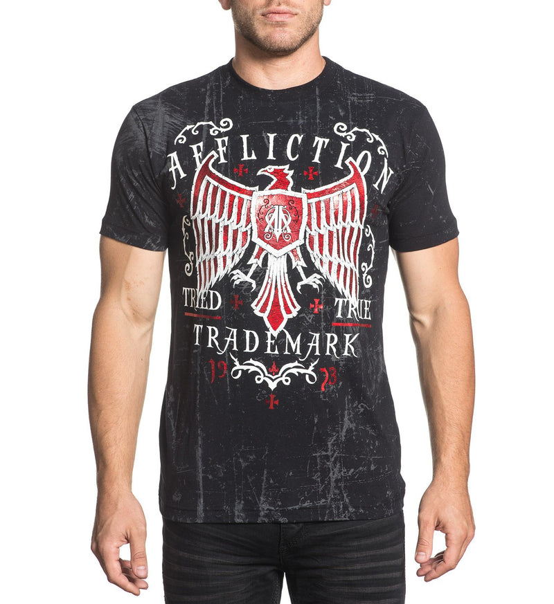 Affliction  Tried Fate Men's Short Sleeve Tee Black