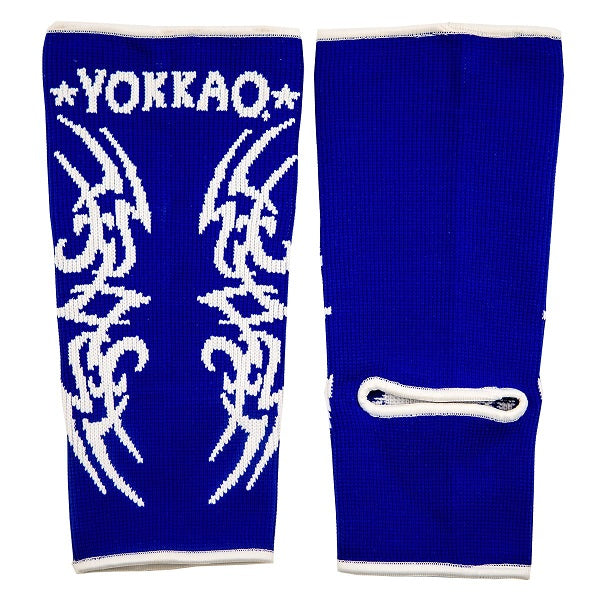 Yokkao Tribal Muay Thai Ankle Guards Blue